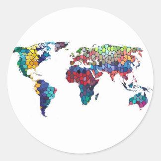 Vous voulez dire le monde à moi collection sticker rond