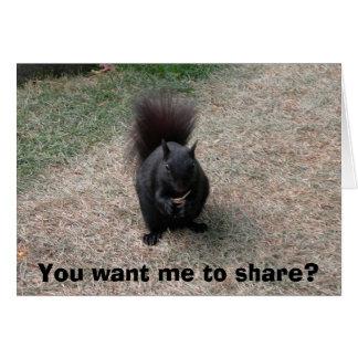Vous voulez que je partage ? carte de vœux
