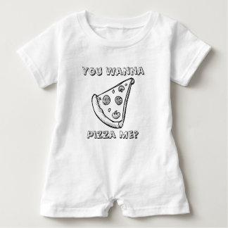 Vous voulez une pizza je - barboteuse de bébé de