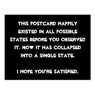 Vous vous êtes effondrés il ! Humour de physique Carte Postale