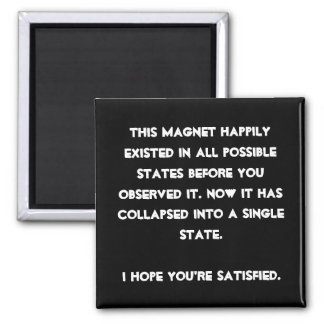Vous vous êtes effondrés il ! Humour de physique Magnet Carré