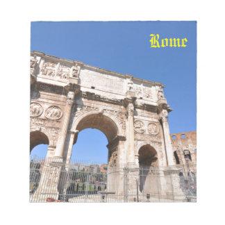 Voûte à Rome, Italie Bloc-note