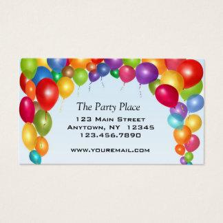 Voûte colorée de ballon cartes de visite