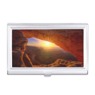 Voûte de MESA, parc national de Canyonlands Boîtier Pour Cartes De Visite