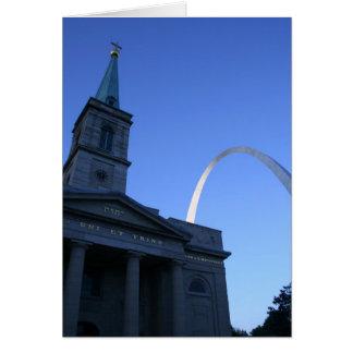 Voûte de St Louis avec l'église Carte De Vœux