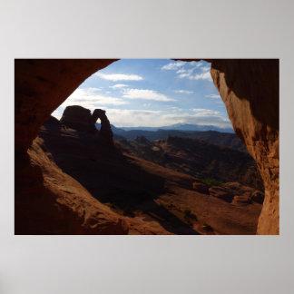 Voûte sensible par la fenêtre de roche aux voûtes poster