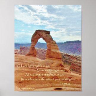Voûte sensible, parc national de voûtes, psaume 25 affiches