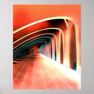 Voûtes abstraites posters