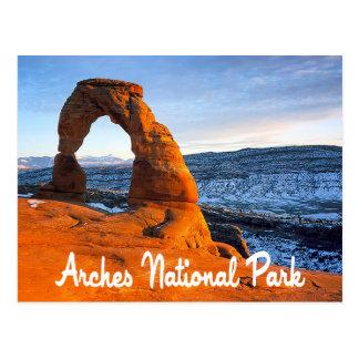 Voûtes parc national, carte postale de Moab Utah