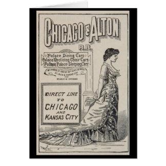 Voyage Art-4 de Chicago de Carte pour notes-Cru