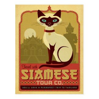 Voyage avec la visite siamoise Cie. Carte Postale