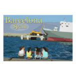 Voyage Barcelone, Espagne Affiches