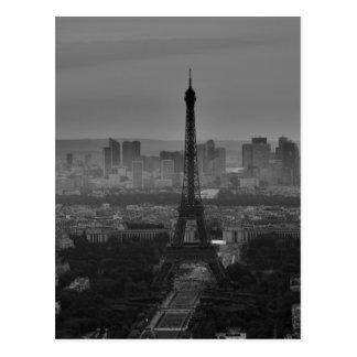 Voyage blanc noir de Paris l'Europe de Tour Eiffel Cartes Postales