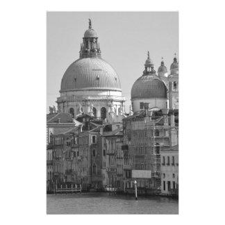Voyage blanc noir de Venise Italie de canal grand Papier À Lettre Personnalisé
