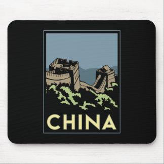 voyage d'art déco de l'Asie de Grande Muraille de  Tapis De Souris