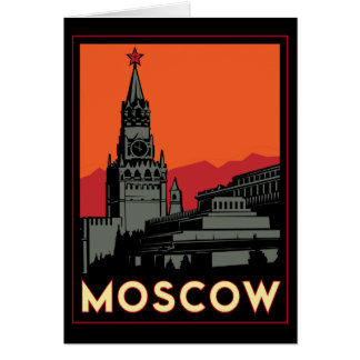 voyage d'art déco de Moscou Russie le Kremlin rétr Carte De Vœux