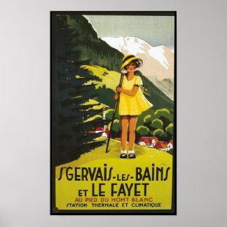 Voyage de Bains de les de St Gervais de cru Affiches