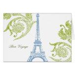 Voyage de fève, carte de voeux d'Eiffel