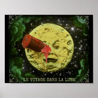 Voyage de la La Lune/A de dans de Le Voyage à Poster