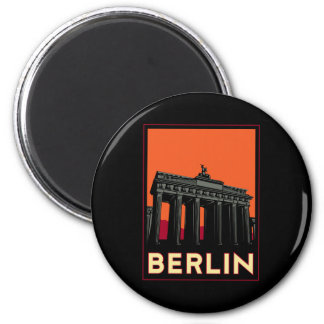 voyage de l'art déco oktoberfest de Berlin Allemag Magnet Rond 8 Cm