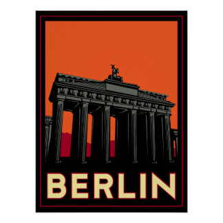 voyage de l'art déco oktoberfest de Berlin Allemag Poster