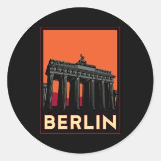 voyage de l'art déco oktoberfest de Berlin Sticker Rond