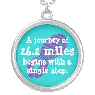 Voyage de marathon pendentif rond