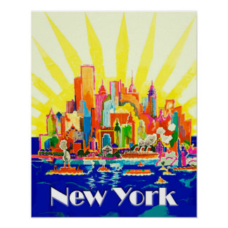 Voyage de New York City Poster