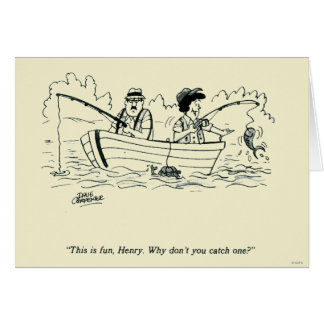 Voyage de pêche carte de vœux