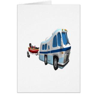 Voyage de route et de bateau carte de vœux