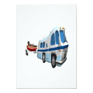 Voyage de route et de bateau carton d'invitation  12,7 cm x 17,78 cm