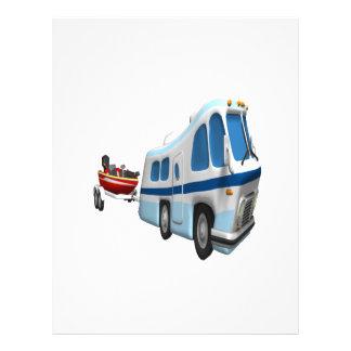 Voyage de route et de bateau prospectus en couleur