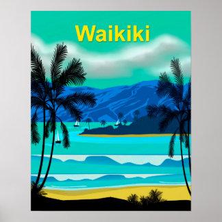 Voyage de Waikiki Hawaï Posters