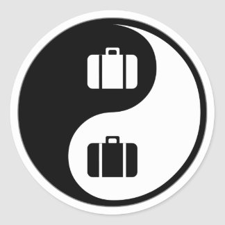 Voyage de Yin Yang Adhésif Rond