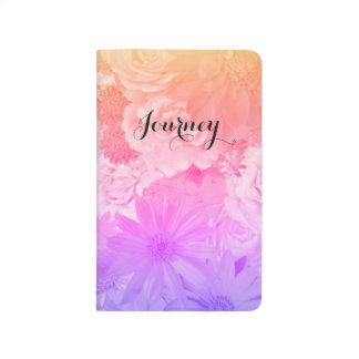 Voyage floral en pastel de Boho de fleurs de Carnet De Poche