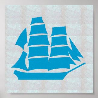 VOYAGE graphique du BATEAU À VOILE de mer de JEU