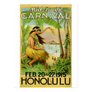 Voyage hawaïen vintage carte postale