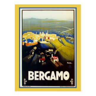 Voyage italien de Bergame des années 1920 vintages Carte Postale