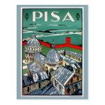 Voyage italien de Pise des années 1920 vintages Carte Postale