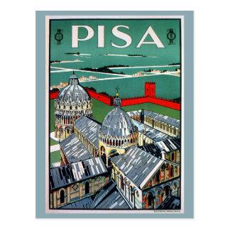Voyage italien de Pise des années 1920 vintages Cartes Postales