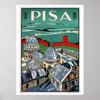 Voyage italien de Pise des années 1920 vintages Posters