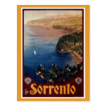 Voyage italien de Sorrente des années 1920 vintage Cartes Postales