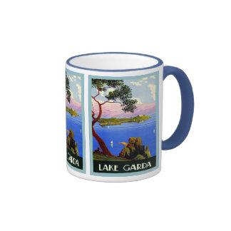 Voyage italien vintage de ~ de policier de lac mug