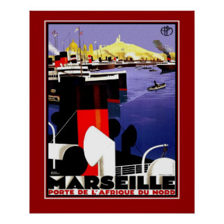 Voyage Marseille France de posters vintage de gran