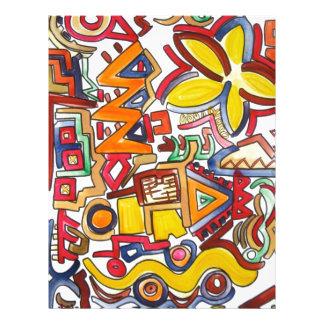 Voyage par la route - art abstrait prospectus avec motif