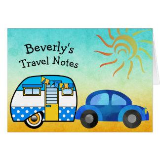 Voyage par la route personnalisé mignon carte de vœux