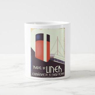 Voyage par le revêtement - affiche vintage de mug