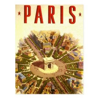 Voyage vintage Arc de Triomphe Paris France Cartes Postales