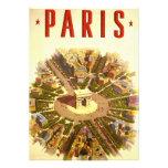 Voyage vintage, Arc de Triomphe Paris France Faire-part Personnalisables