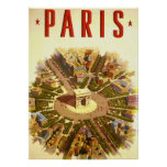 Voyage vintage, Arc de Triomphe Paris France Poster